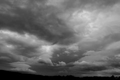 Cielo nuvoloso Fotografia Stock Libera da Diritti