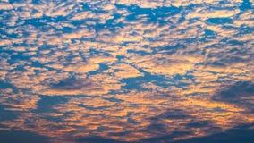 Cielo nuvoloso Immagine Stock