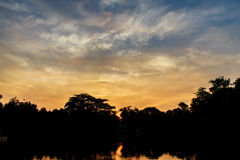 Cielo nuvoloso crepuscolare Fotografie Stock