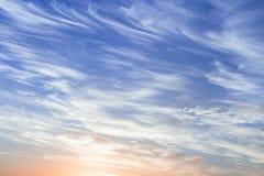 Cielo nuvoloso di mattina immagini stock libere da diritti