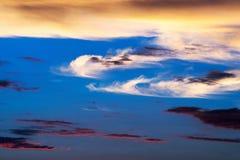 Cielo nuvoloso drammatico fotografia stock libera da diritti