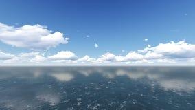 Cielo nuvoloso e mare Colpo di estate del mare Fotografia Stock Libera da Diritti