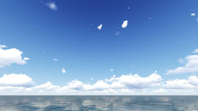 Cielo nuvoloso e mare Colpo di estate del mare Immagine Stock Libera da Diritti