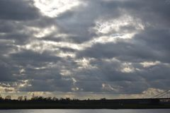 Cielo nuvoloso in Germania 3 fotografie stock
