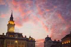 Cielo nuvoloso sopra Novi Sad Fotografie Stock Libere da Diritti