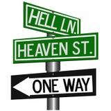 Cielo o infierno Imagen de archivo libre de regalías
