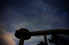 Cielo oscuro en gran parque nacional de la montaña ahumada Imágenes de archivo libres de regalías