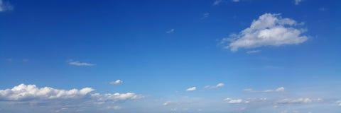 Cielo panorámico con la nube Fotografía de archivo libre de regalías