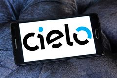 Cielo payment systems logo. Logo of Cielo payment systems on samsung mobile. Cielo is the largest Brazilian credit and debit card operator. Cielo is the biggest Royalty Free Stock Photos