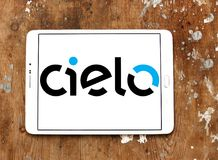 Cielo payment systems logo. Logo of Cielo payment systems on samsung tablet. Cielo is the largest Brazilian credit and debit card operator. Cielo is the biggest Royalty Free Stock Images
