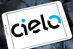 Cielo payment systems logo. Logo of Cielo payment systems on samsung tablet. Cielo is the largest Brazilian credit and debit card operator. Cielo is the biggest Stock Photography