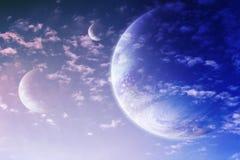 Cielo in pianeta straniero immagine stock libera da diritti