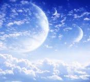 Cielo in pianeta straniero fotografia stock