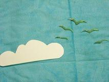 Cielo plano de la endecha Foto de archivo libre de regalías
