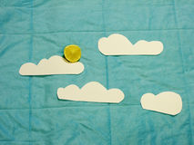 Cielo plano de la endecha Fotografía de archivo libre de regalías