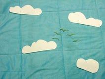 Cielo plano de la endecha Fotografía de archivo
