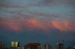 Cielo profondo luminoso al tramonto Fotografia Stock Libera da Diritti