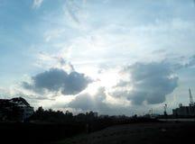 cielo pueblerino Foto de archivo libre de regalías