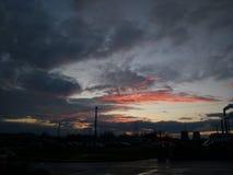 cielo, puesta del sol, rosada fotos de archivo libres de regalías