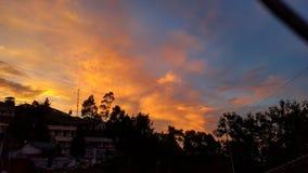 Cielo rojo Imagen de archivo libre de regalías