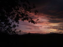 Cielo rojo Imagen de archivo