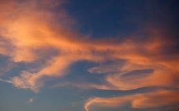 Cielo rojo idílico Imagen de archivo libre de regalías