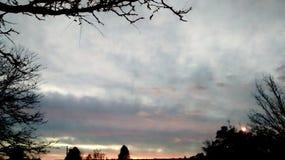 Cielo rosáceo Imagen de archivo libre de regalías