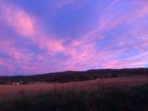 Cielo rosa Fotografie Stock Libere da Diritti
