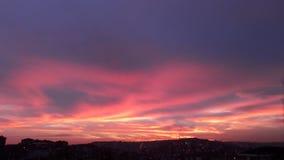Cielo rosado fotos de archivo