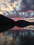 Cielo rosado Imágenes de archivo libres de regalías