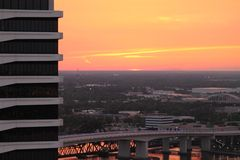 Cielo rosado de la naranja del melocotón Fotos de archivo libres de regalías