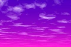 Cielo rosado en la noche Fotos de archivo