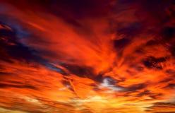 Cielo rosso Fotografia Stock
