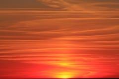 Cielo rosso Fotografie Stock