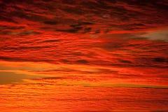 Cielo rosso Fotografie Stock Libere da Diritti