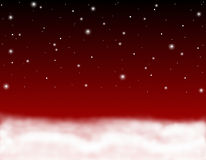 Cielo rosso Immagini Stock