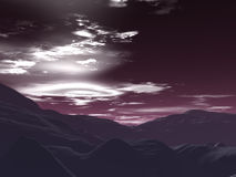 Cielo rosso Illustrazione Vettoriale