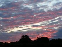 Cielo rosso all'alba Fotografia Stock Libera da Diritti