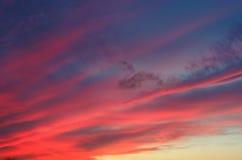 Cielo rosso di tramonto Fotografia Stock Libera da Diritti