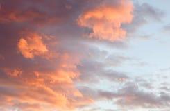 Cielo rosso idilliaco Immagine Stock Libera da Diritti
