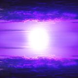Cielo rosso magenta Fotografie Stock Libere da Diritti