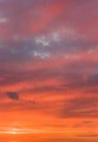Cielo russo di tramonto fotografia stock