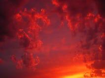Cielo sangriento Imagen de archivo libre de regalías