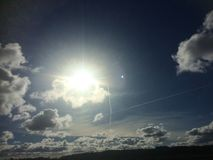 Cielo scandinavo di mezzogiorno Fotografia Stock Libera da Diritti