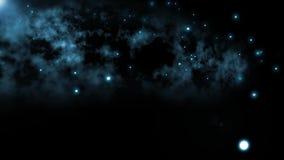 Cielo scuro strano e spettrale con le luci sconosciute illustrazione vettoriale