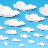 Cielo senza giunte delle nubi illustrazione di stock