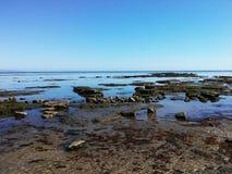 Cielo senza nuvole a Lyme Regis Fotografia Stock