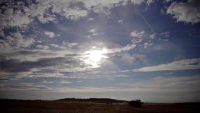 Cielo sobre campo Imagen de archivo libre de regalías
