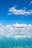 Cielo sobre el agua Foto de archivo libre de regalías