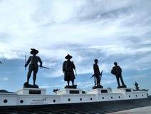"""Cielo sobre el  conmemorativo Hua Hin Thailand de Park†de los """"King's de Ratchapak imagenes de archivo"""